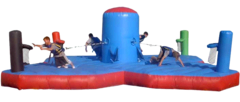 4 Person Bungee Run & Dunk