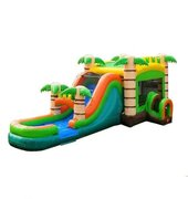 Mega Tropical Water Slide Bounce House Combo ( Wet/Dry)