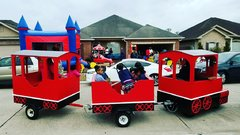 Large Bounce House, Train And Carousel