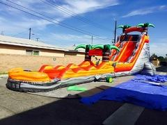24 Feet Volcanic Mountain With Slip and Slide With Pool