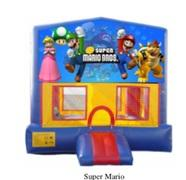 Deluxe Bounce House With Hoop - Super Mario