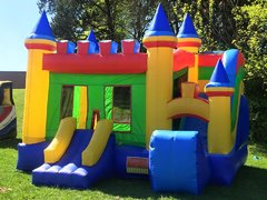 Colorful Castle Bounce House with Slide