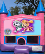 Girl paw patrol bounce house