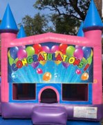 Congratulations girl bounce house