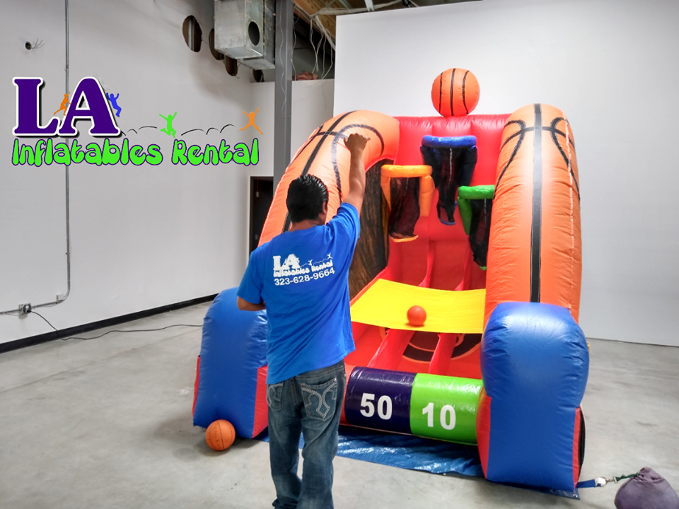 Inflatable Basketball Interactive Game Rentals Los Angeles