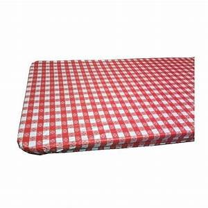 Kwik Covers 6' Rectangle Red/White Gingham Table Cover