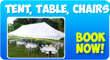 Tent, Tables, & Chairs