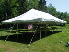 Tent: 20ft x 40ft