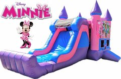 Minnie Mouse Bounce House & Slide(Pink & Purple Unit - Dry)