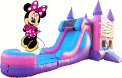 Minnie Mouse Bounce House and Water Slide
