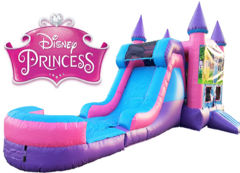 Princess Bounce House with Water Slide