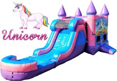Unicorn Bounce House & Water Slide Combo(Pink & Purple unit)