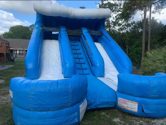 16' Double Splash Water Slide Wet/Dry