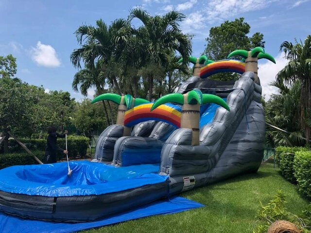 22 Ft Boulder Tropical Springs Water Slide