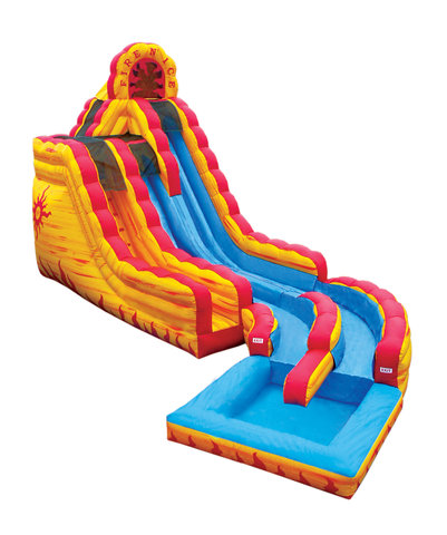 20' Dual Lane Fire and Ice Slide (Wet/Dry)
