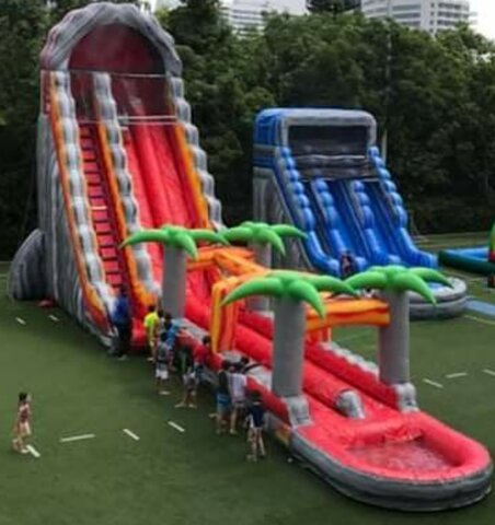 31 Ft Volcano Dual Lane Water Slide