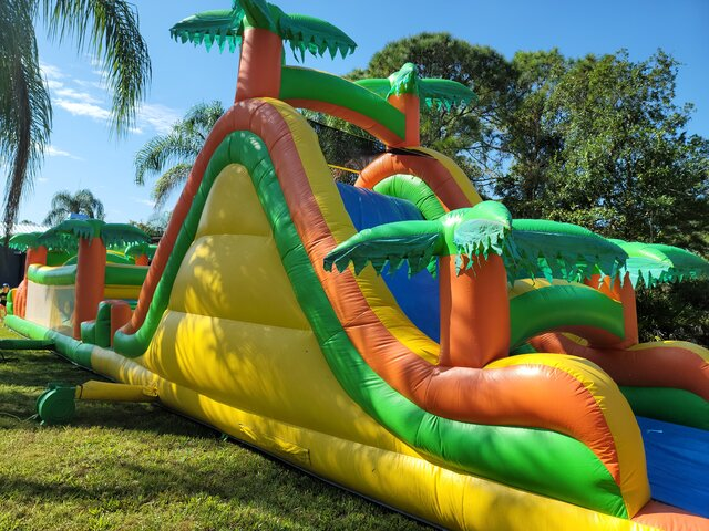 Tropical Obstacle With Slide Dry