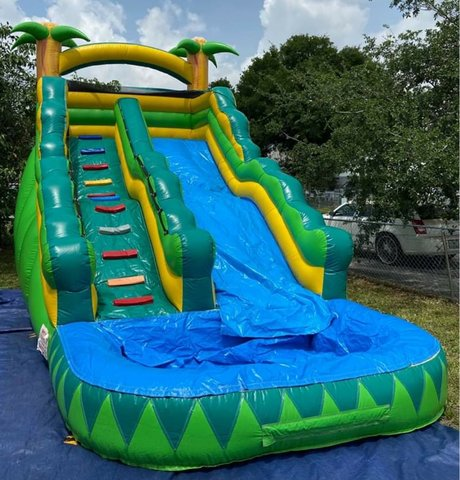 16' Tropical Palm Trees Water Slide