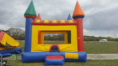 17x17 Big Multi Color Bounce House