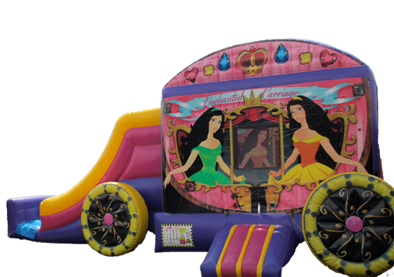 Enchanted Princess Carriage Bouncer/Slide Combo