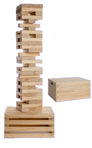 Giant Wood stacking Game