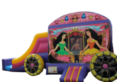 DRY USE ONLY / Enchanted Princess Carriage Bouncer/Slide Combo