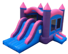 Pink Kids  Bouncer/Slide  Combo