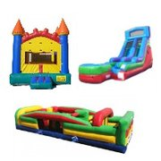 Package D-Arch Castle Bouncer, Obstacle Course and Dry Slide