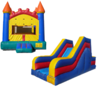 Package A-Arch Castle Bouncer and Rock Climb Slide