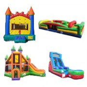 Package E-Castle Bouncer, Obstacle Course, Dynamic Combo and Dry Slide