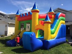 Castle bouncer with with side slide
