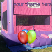 Deluxe Bounce House   2-n-1 Combo Pink