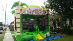 Deluxe Bounce House Tropical Spacewalk