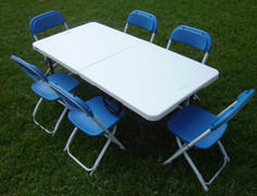 Toddler Blue Chairs with Table