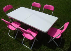 Toddler Pink Chairs with Table