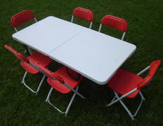 Toddler Red Chairs with Table