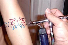 Air Brush Tattoos - Must call ahead to check availabilty