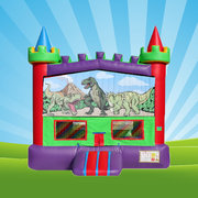 DINO RAINBOW BOUNCE HOUSE