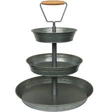 Black 3 Tier Cupcake Stand