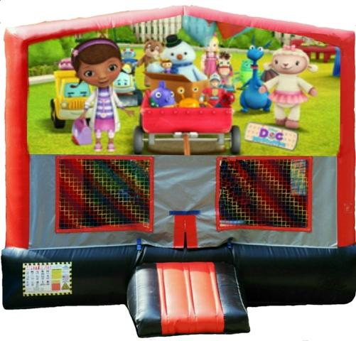 Doc McStuffins Red/Black/Gray Module Bounce House