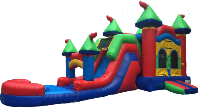 Multi Color Castle Combo Waterslide