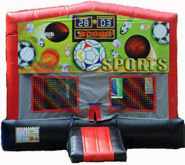 Sports Red/Black/Gray Module Bounce House