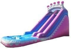 20 ft Pink Princess Waterslide