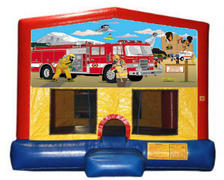 Firemen on a Mission Plain Module Bounce House