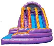 20 ft LSU Curve Dual Lane Waterslide