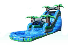 18 ft Blue Tropical Waterslide