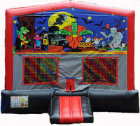 Halloween Red/Black/Gray Module Bounce House