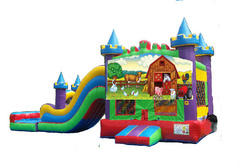 Animal Farm King Castle Combo II Waterslide