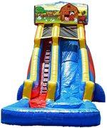 22 ft Module Animal Farm Waterslide