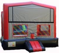 Plain Red/Black/Gray Module Bounce House